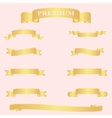 Golden ribbon set vector image