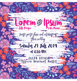 Modern Floral Wedding invitation card vector image vector image