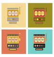 Assembly flat icons slot machine vector image