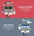 banners for graphic design and web design vector image