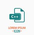 C plus computer symbol vector image