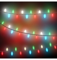 Colorful garlands at black strings vector image
