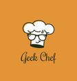 geek chef logo vector image
