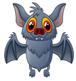 Happy Vampire Bat Cartoon Character Flying vector image