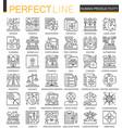 human productivity outline mini concept symbols vector image