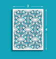 rectangle panel with cutout lace pattern vector image