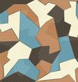 Retro textile seamless pattern vector image