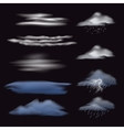 Set of transparent clouds vector image