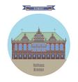 Rathaus Bremen Germany vector image