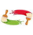Paint brush stroke vector image