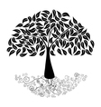 Big tree silhouette vector image