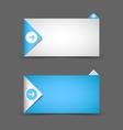 Notification window template vector image vector image