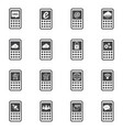 big data icon set sign of mobile phone vector image