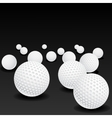 Golf balls vector image vector image