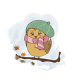 cute female bird on the branch vector image