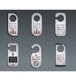 Business management consulting Door knob or hanger vector image