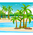 Beach view at daytime vector image vector image
