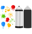 aerosol paint stain vector image vector image