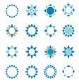 Geometric logo template set vector image vector image