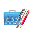 bag and pen vector image vector image
