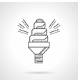 Spiral saving lamp flat line icon vector image