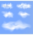 Set of different isolated clouds EPS 10 vector image
