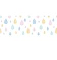 Abstract textile colorful rain drops horizontal vector image
