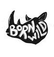 born wild rhino vector image