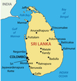 Democratic Socialist Republic of Sri Lanka - map vector image