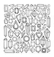 Hand drawn modern set of crystals vector image