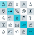 Happy icons set collection of birthday cake vector image