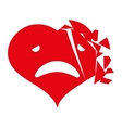 Heart cartoon love vector image