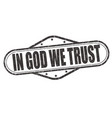 in god we trust stamp vector image