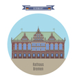 Rathaus Bremen Germany vector image