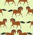 Seamless texture dark Horses stallion vector image