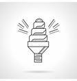 Spiral saving lamp flat line icon vector image