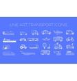 Transport line icons big set vector image