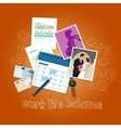 work life balance concept of balancing people time vector image