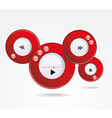 Light Web Elements Buttons Switchers Player Audio vector image vector image