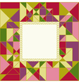 Colorful Geometric Pattern Card Design vector image vector image