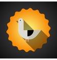 Summer Travel Seagull Bird flat icon vector image