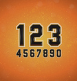 Sport Style Numbers vector image vector image