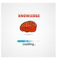 creative brain loading on background vector image