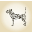 Dog business vector image