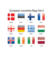 European countries flags set 2 vector image