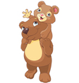 Father and son bear vector image
