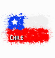 flag of chile from blots of paint vector image