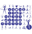 icons sport fitness vector image