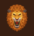 Lion head polygon geometric vector image
