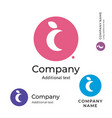 moon logo stylish beauty identity brand symbol vector image